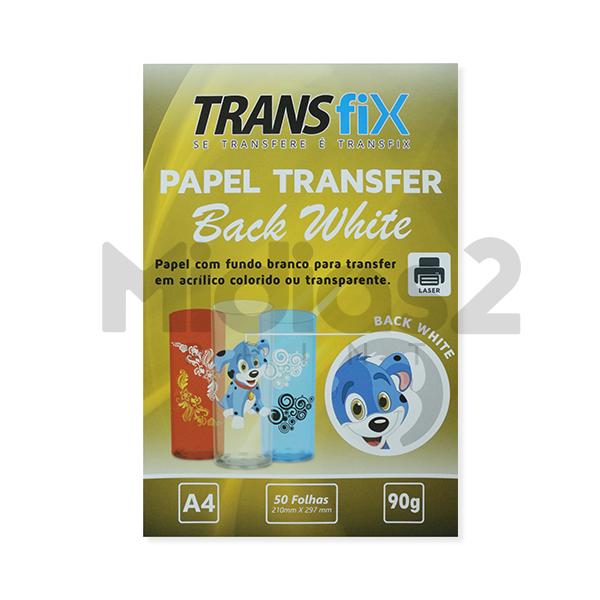 PAPEL A4 BLACK WHITE PARA TRANSFER EM RÍGIDOS 90G - TRANSFIX - 1 FOLHA