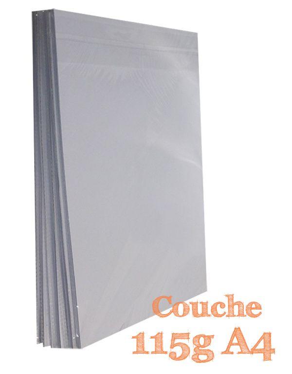 PAPEL A4 COUCHE BRILHO 115G COM 100 FLS