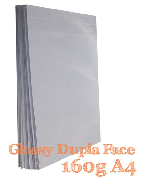 PAPEL A4 FOTO GLOSSY 160G DUPLA FACE 20 FLS - M2