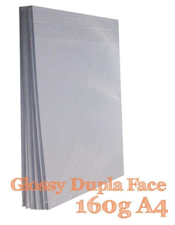 PAPEL A4 FOTO GLOSSY 160G DUPLA FACE 20 FLS - M2