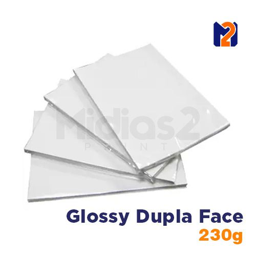 PAPEL A4 FOTO GLOSSY 230G DUPLA FACE - M2 - 20 FLS