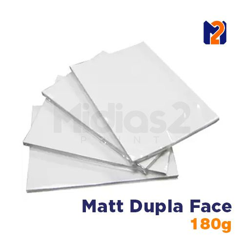 PAPEL A4 FOTO MATT FOSCO 180G DUPLA FACE - M2 - 20 FLS