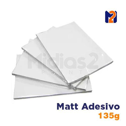 PAPEL A4 FOTO MATT FOSCO ADESIVO 135G - M2 - 20 FLS