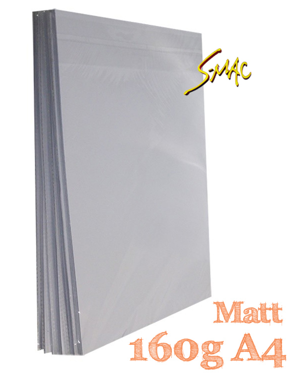 PAPEL A4 FOTOGRÁFICO MATTE 160G COM 50 FLS - S-MAC