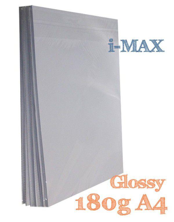 PAPEL A4 GLOSSY 180G COM 20 FLS - I-MAX