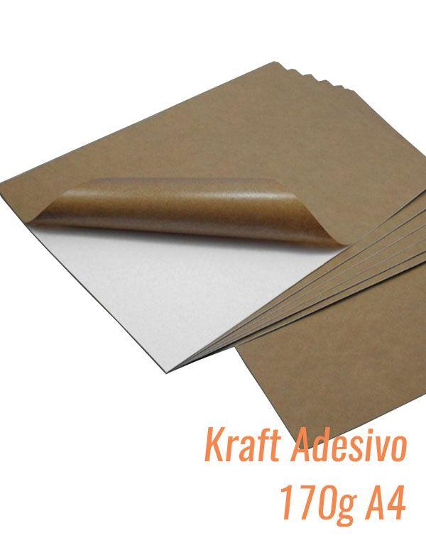 PAPEL A4 KRAFT ADESIVO COM 10 FLS