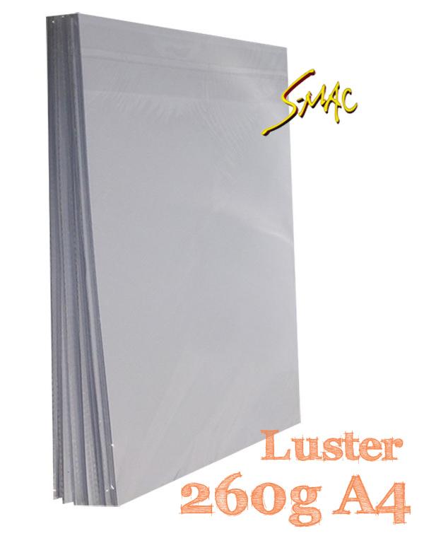 PAPEL A4 LUSTER 260G COM 20 FLS - S-MAC