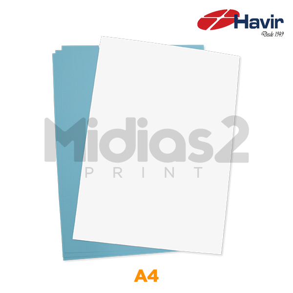 PAPEL A4 SUBLIMÁTICO R90 FUNDO AZUL 50 FLS - HAVIR