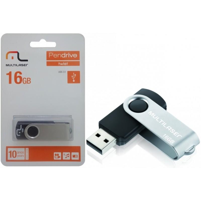 PEN DRIVE 16GB TWIST 2 PD588 - MULTILASER