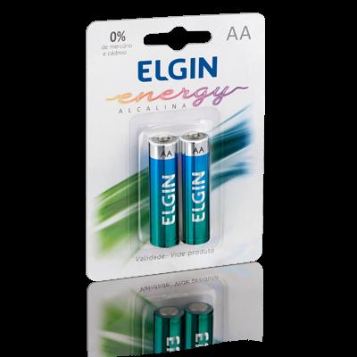 PILHA ALCALINA AA LR6 BLISTER C/ 2 - ELGIN