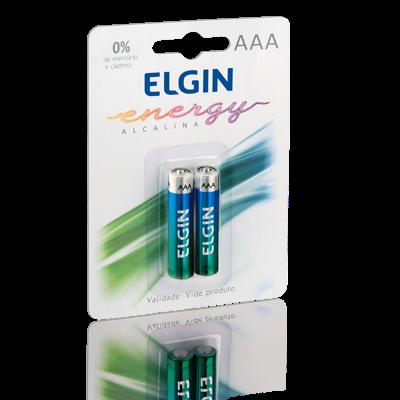 PILHA ALCALINA AAA LR03 BLISTER C/ 2 -  ELGIN