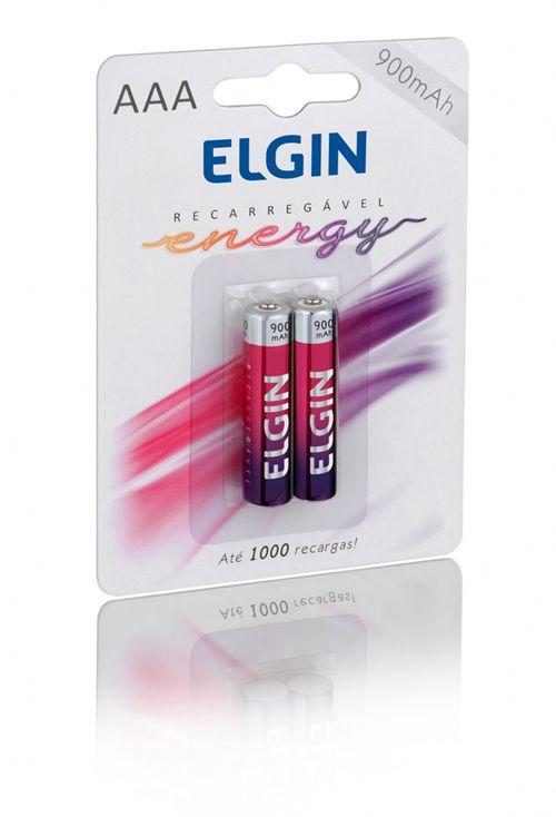 PILHA REC AAA 900MAH BLISTER C/ 2 - ELGIN