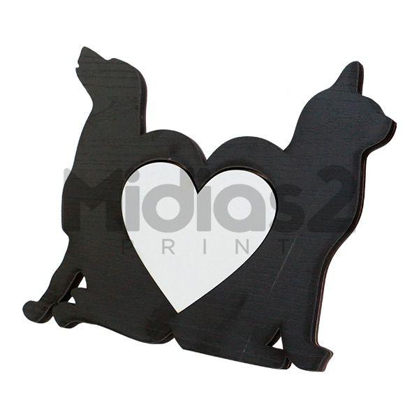 PORTA RETRATO EM MDF 9MM LINHA LUX MODELO PET CAT & DOG