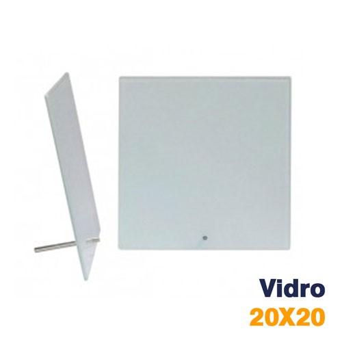 PORTA RETRATO VIDRO 20x20 BRANCO SG-25