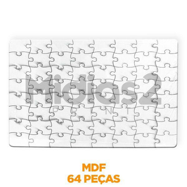 QUEBRA CABEÇA A4 MDF 3MM SUBLIMÁTICO - 64 PEÇAS