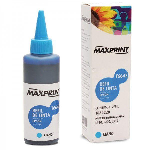 REFIL COMPATIVEL EPSON T664220 CIANO - MAXPRINT