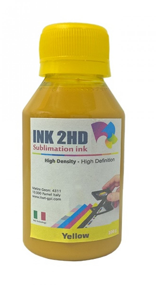 TINTA SUBLIMATICA INK2HD AMARELO 100ML