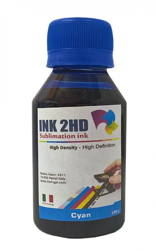 TINTA SUBLIMATICA INK2HD CYAN 100ML