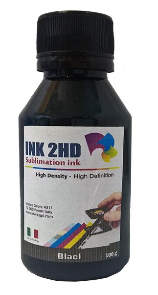 TINTA SUBLIMATICA INK2HD PRETO 100ML