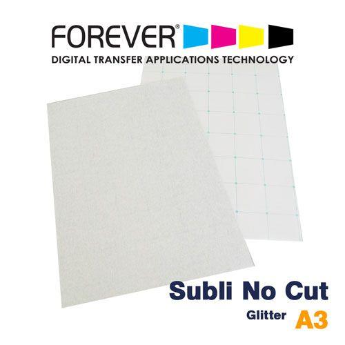 TRANSFER A3 SUBLI NO CUT GLITTER PARA ALGODÃO CLARO - FOREVER - 1 FL