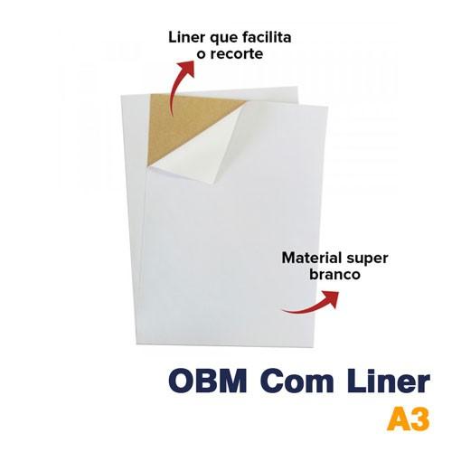 TRANSFER TERMOCOLANTE OBM A3 BRANCO FOSCO COM LINER - BESTFILME