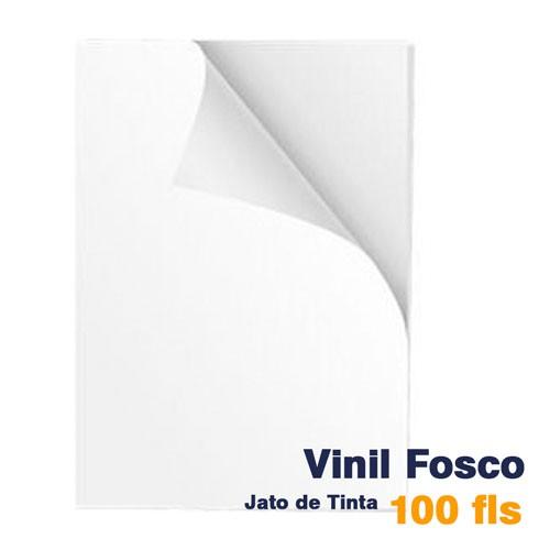 VINIL A4 ADESIVO BRANCO FOSCO PARA JATO DE TINTA - 100 FLS