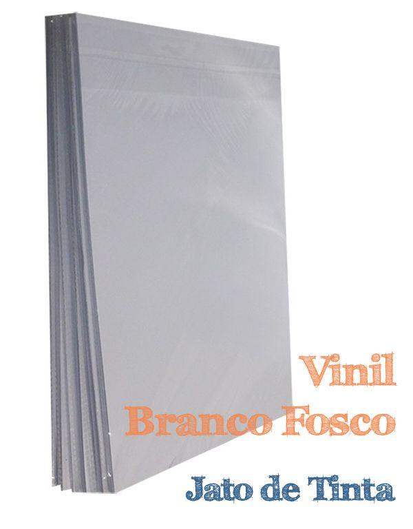VINIL A4 ADESIVO BRANCO FOSCO PARA JATO DE TINTA - 1 FL