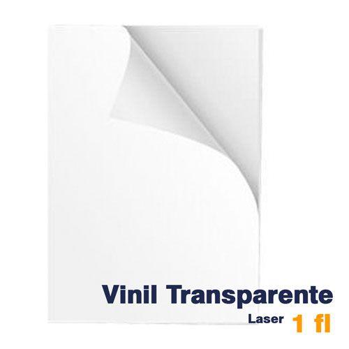 VINIL A4 ADESIVO TRANSPARENTE PARA LASER - 1 FL