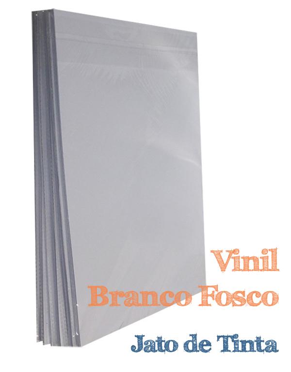 VINIL ADESIVO A4 BRANCO FOSCO INKJET - 10 FLS