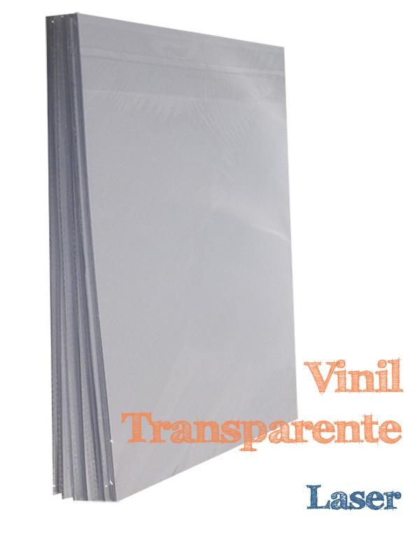 VINIL ADESIVO A4 TRANSPARENTE PARA LASER - 10 FLS