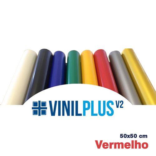 VINIL PLUS 2.0 VERMELHO 50X50 CM