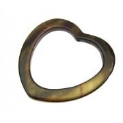 2 unids. conta coração vasado de Madrepérola ouro velho 28mm CAMAD-94