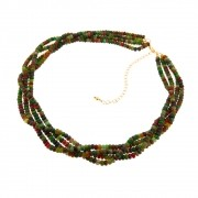 Colar Torside Rondeis Jade Multicolor CLPM-16