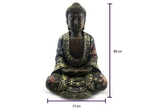Buda Meditando - Imagem Resina 24 x 15 cm