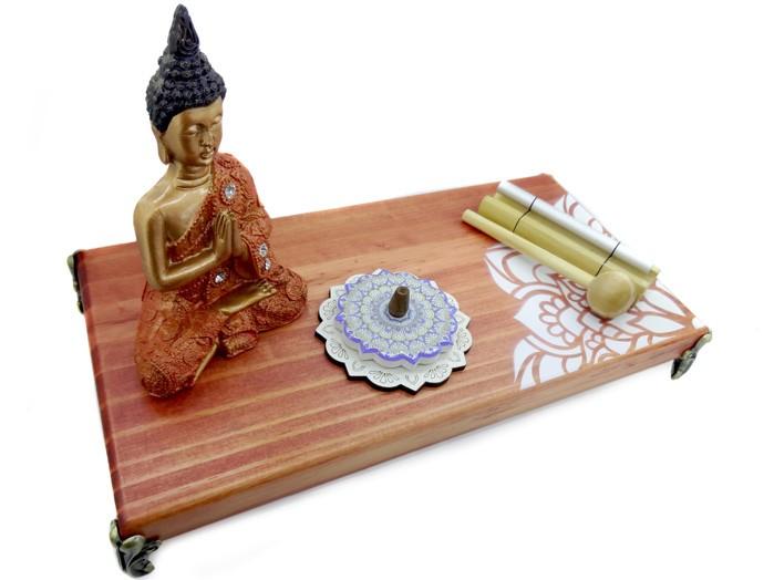 Altar Mandala + Buda Tibetano + Sino Pin + Incensário Mandala