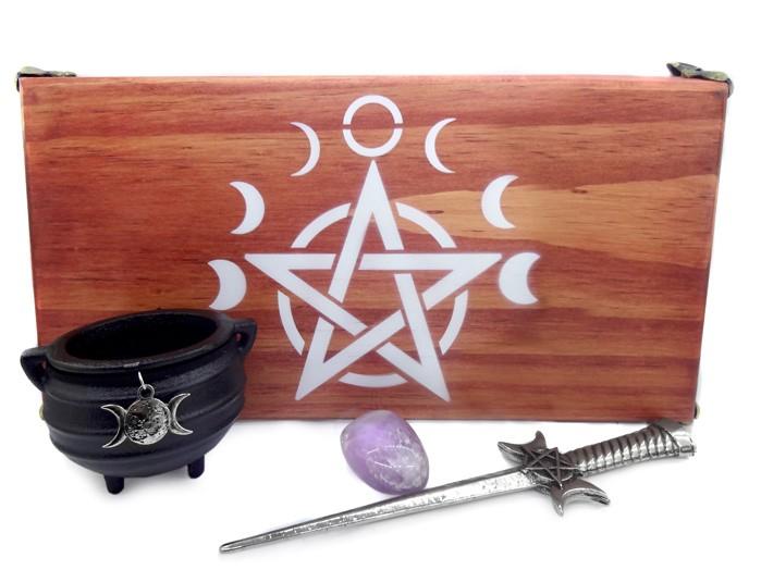 Altar de Madeira Wicca Combo 5 - Punhal