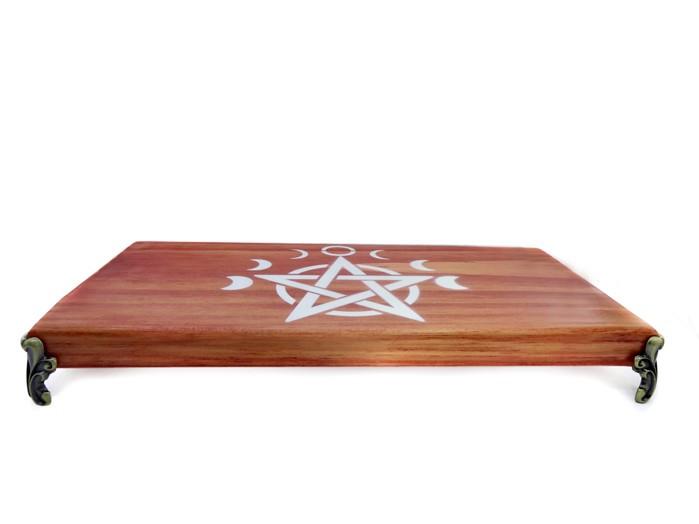 Altar Pentagrama Wicca em Madeira