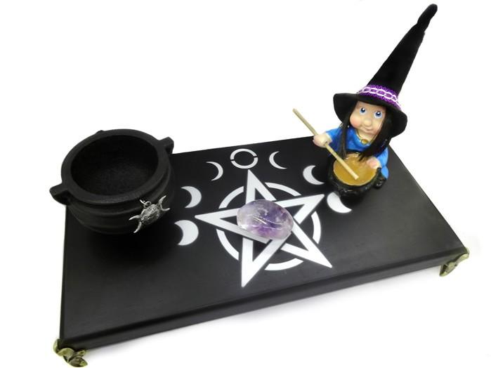 Altar Wicca Preto Combo 4 - Bruxa
