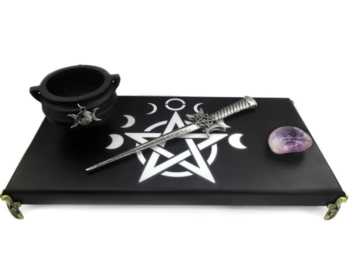 Altar Wicca Preto Combo 5 - Punhal
