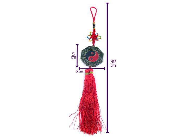 Baguá Yin Yang com Espelho 5cm