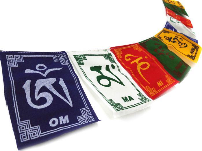 Bandeiras De Orações Tibetanas Mantra Om Mani Padme Hum