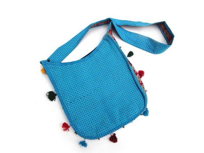b3c541fc5 ... Bolsa Indiana - Azul Claro ...