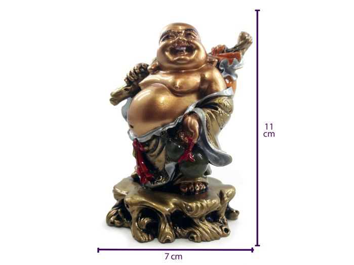 Buda Dourado Da Prosperidade 7 x 10 cm