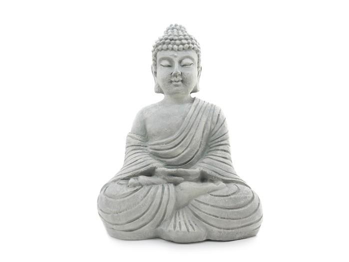 Buda Hindu Cinza Imagem Resina 22 cm