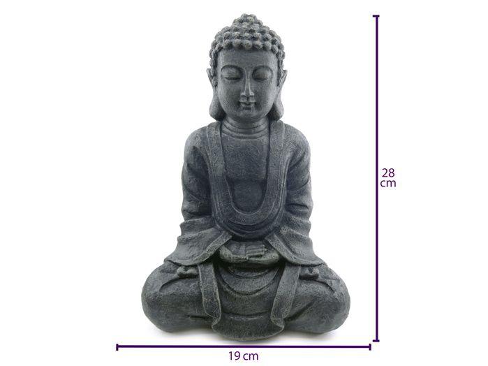 Buda Hindu Preto Resina 29 cm