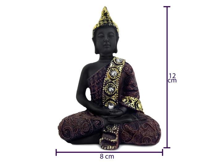 Buda Meditando Enfeite Manto dourado 12 cm