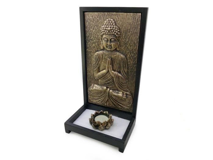 Buda Sidarta Incensario Areia e Vela