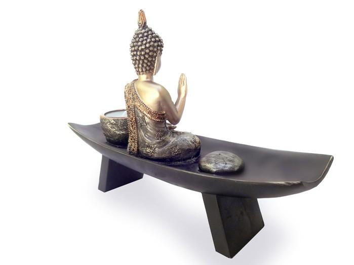 Buda Sidarta Incensario e Vela 20 x 29