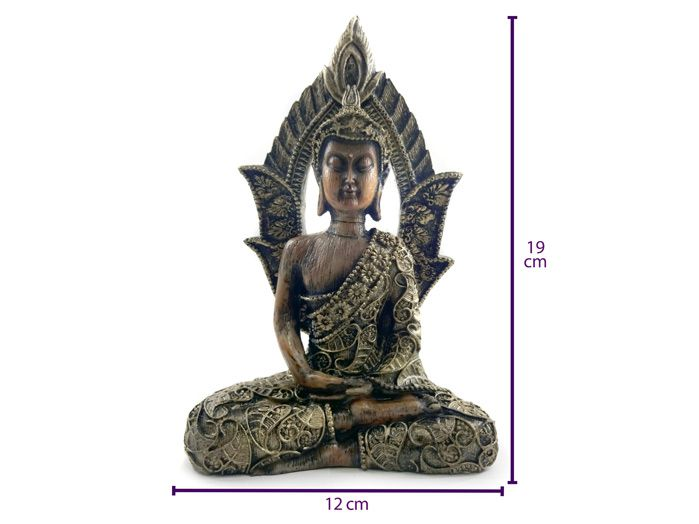 Buda Sidarta Meditando 12 x 19 cm