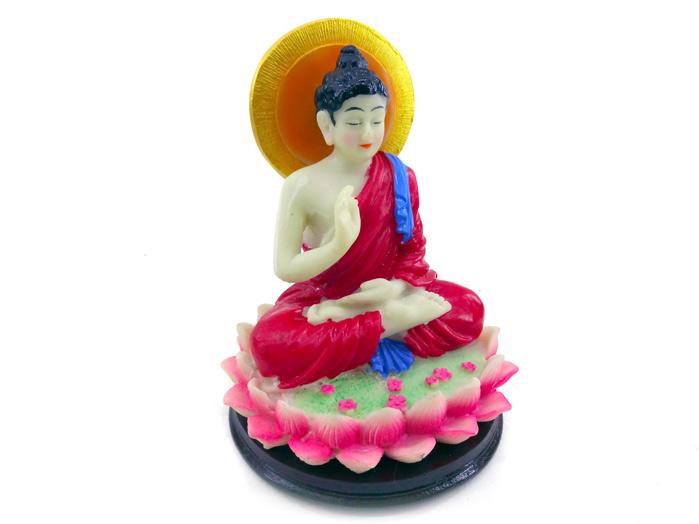 Buda Siddartha Gautama 11 cm base Preta